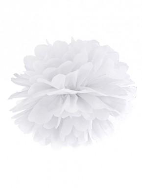 Pompon papierowy biały 25cm