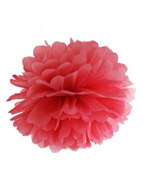 Pompon papierowy czerwony 25cm
