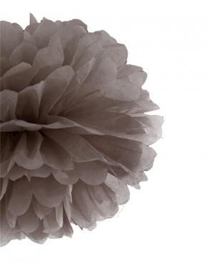 Pompon papierowy marsala 35cm