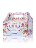 Pudełko na ciasto Kwiatuszki