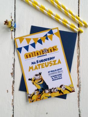 Zaproszenie urodziny Minionki