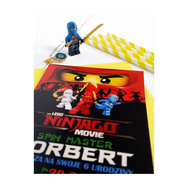 Zaproszenie Urodziny Ninjago Druklovepl