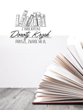 Stempel ex libris 30x40 Czytający Chłopiec