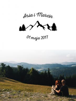 Stempel ślubny 40x60 Góry