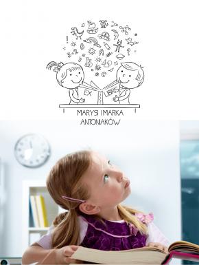 Stempel ex libris 50x50 Mądre Dzieci