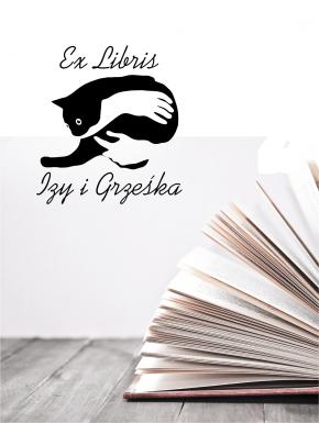 Stempel ex libris 50x50 Kot Leniuch