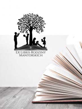Stempel ex libris 50x50 Drzewo Rodzina