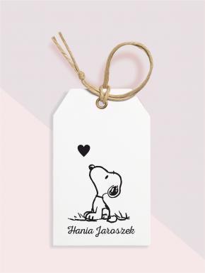 Stempel ex libris 45x60 Snoopy