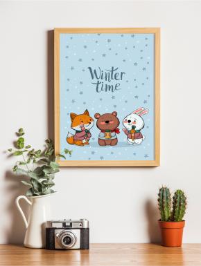 Plakat świąteczny Cute Animals A4