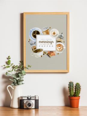 Plakat Cafe A4