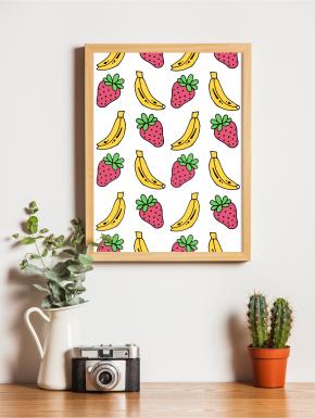 Plakat Owoce A4