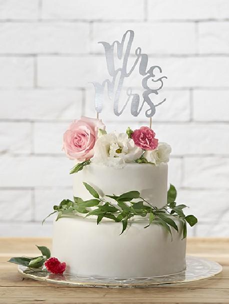 Topper na tort Love czarny 17cm