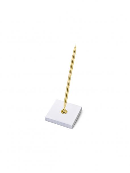 Stojaczek ze złotym długopisem