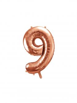 Balon foliowy metalizowany Cyfra Golden Rose 86cm