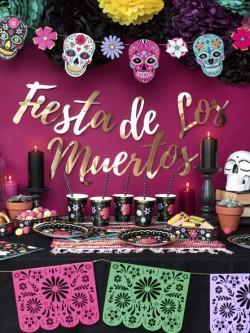 Baner Fiesta de Los Muertos złoty