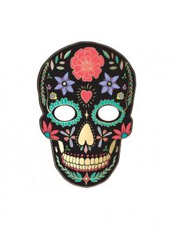 Maska Dia de Los Muertos czarna