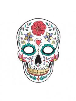 Maska Dia de Los Muertos biała