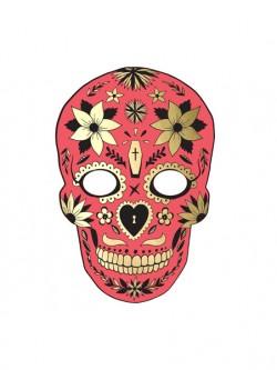Maska Dia de Los Muertos czerwona