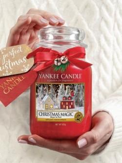 Swieca Yankee CHRISTMAS MAGIC duży słoik