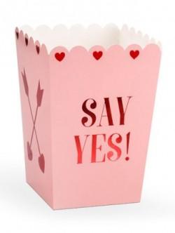 Pudełka na popcorn Walentynki