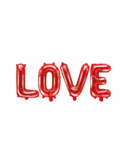 Balon foliowy Love czerwony
